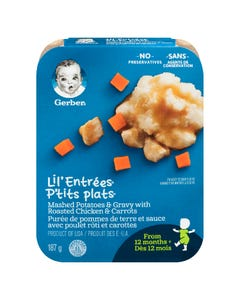 Gerber Lil' Entrees Mashed Potatoes & Gravy with Roasted Chicken & Carrots 187G