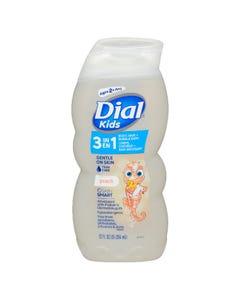 Dial Kids 3in1 Body, Hair + Bubble Bath Peach 355ML