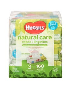 Huggies Wipes Natural Care Soft 3x56ct