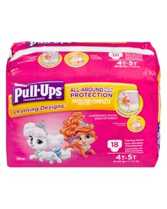 Huggies Pull-Ups Learning Designs Filles 4T 5T 18'S