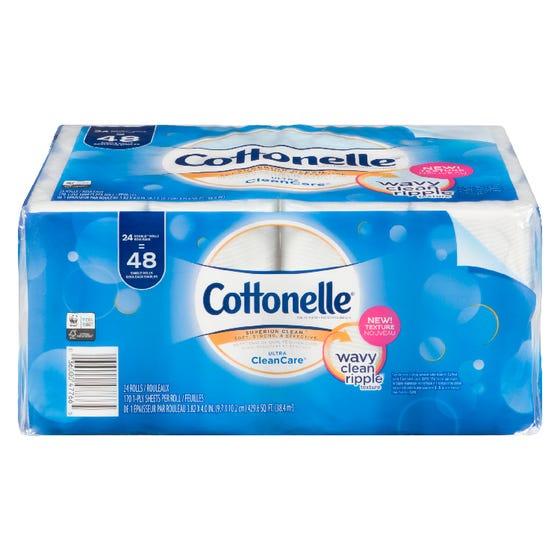 Cottonelle CleanCare Bath Tissue 24 Double Rolls