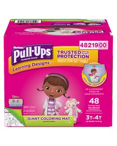 Huggies Pull-Ups Learning Designs Filles 3T 4T 48'S