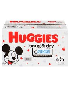 Huggies Snug & Dry Diapers Size 5 76CT