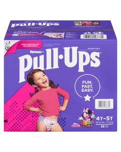 Huggies Pull Ups Girls 4T-5T 56CT