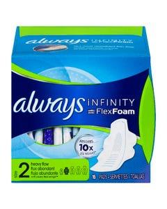 Always Infinity Avec Flexfoam Flux Abondant Taille 2 16'S