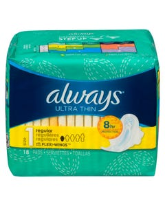 Always Ultra Thin Regular 18 Pads
