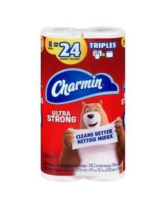 Charmin Ultra Strong Bath Tissue 8 Triple Rolls
