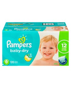 Pampers Baby Dry EconoPlus Diaper Size 6 120CT