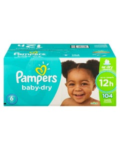 Pampers Baby-Dry Diapers Size 6 104CT
