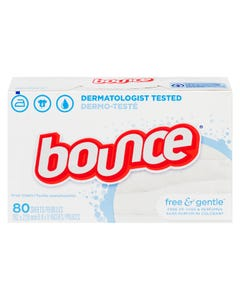 Bounce Free & Gentle Dryer Sheets 80CT