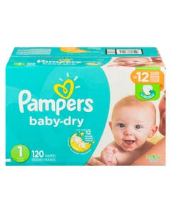 Pampers Baby Dry Couches Pour Bébé Taille 1 120'S
