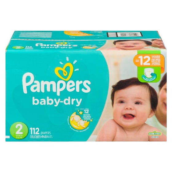 Pampers Baby Dry Couches Pour Bébé Taille 2 112'S