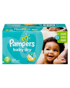 Pampers Baby Dry Couches Pour Bébé Taille 3 104'S