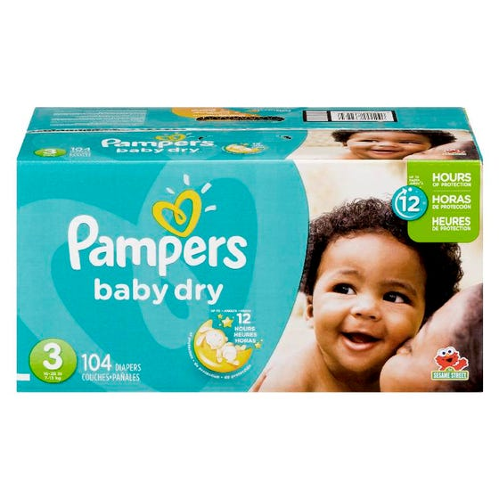 Pampers Diapers Box Size 3 104ct