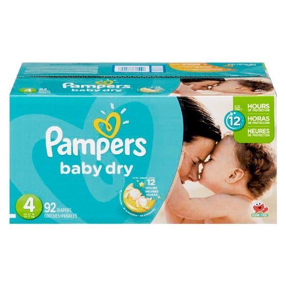 Pampers Baby Dry Couches Pour Bébé Taille 4 92'S