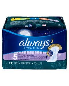 Always Ultra Thin Extra Heavy Overnight 24 Pads