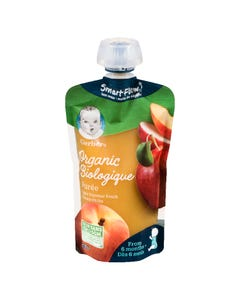 Gerber Organic Puree Apple Summer Peach 128ML