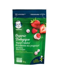 Gerber Organic Yogurt Melts Red Berry 28G