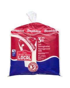 Beatrice Milk 3.25% Bag 4L