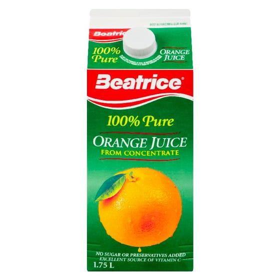 Beatrice Jus d'Orange 100% Pur 1.75L