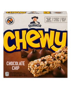 Quaker Chewy Barres Tendres Brisures de Chocolat 156G