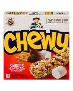 Quaker Chewy Barres Tendres S'Mores 156G