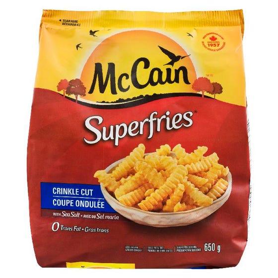 McCain Superfries Crinkle Cut 650g
