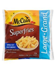 McCain Superfries Crinkle Cut 1.5KG