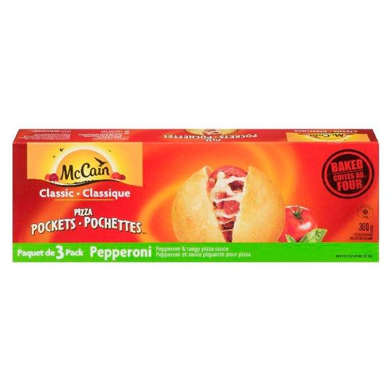 McCain Pizza Pockets Pepperoni 3CT 300G