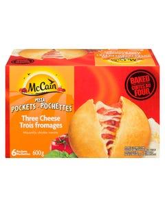McCain Pizza Pockets Three Cheese 6CT 600G