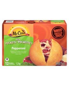 McCain Pizza Pockets Pepperoni 12CT 1.2KG