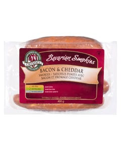 Grimm's Bavarian Smokies Bacon & Cheddar 450G