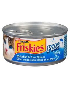 Friskies Pate Ocean Whitefish & Tuna Dinner Cat Food 156G