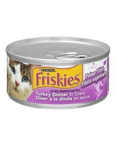 Friskies Prime Filets Turkey Dinner in Gravy Cat Food 156G