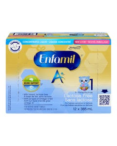 Enfamil A+ Liquide Concentré Sans Lactose 0-12 Mois 12X385ML