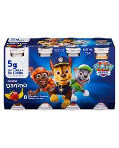 Danino Drinkable Yogurt Strawberry Banana 8x93ML