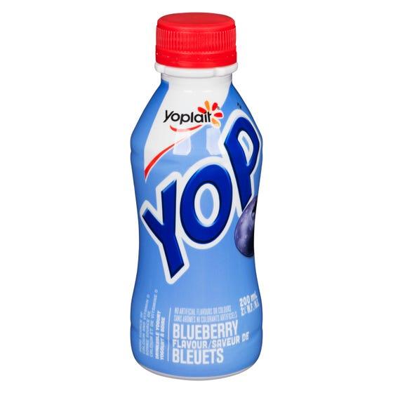 Yoplait Yop Yogourt à Boire Saveur de Bleuets 200Ml