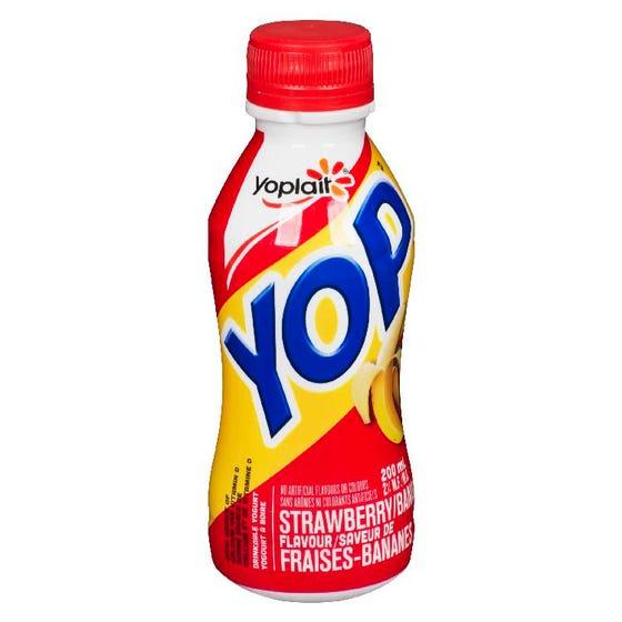 Yop Yogurt Drink Strawberry Banana 200ml