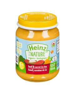 Heinz By Nature Organic Beef & Carrot in Rice 128ML