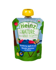Heinz By Nature Blueberry, Apple & Oat 128ML
