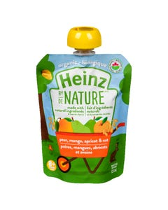 Heinz By Nature Pear, Mango, Apricot & Oat 128ML
