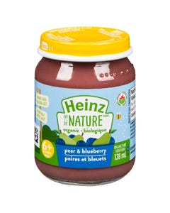 Heinz By Nature Pear & Blueberry 128ML