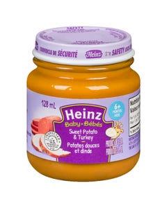 Heinz Bébés Purée Patates Douces et Dinde en Pot 128ML
