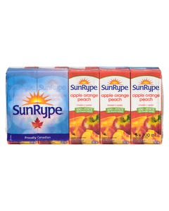 Sun Rype Apple Orange Peach Juice 5x200ml
