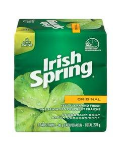 Irish Spring Deodorant Bar Soap 3X90g