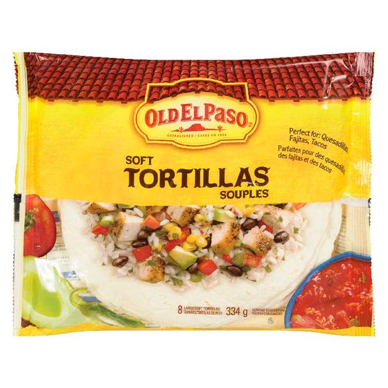 Old El Paso Soft Tortillas 8ct 334g