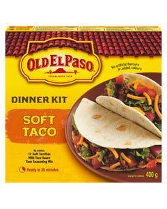 Old El Paso Dinner Kit Soft Taco 400G