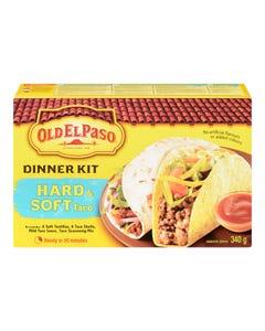Old El Paso Dinner Kit Hard & Soft Taco 340g