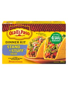 Old El Paso Dinner Kit Stand 'n Stuff Tacos 250G