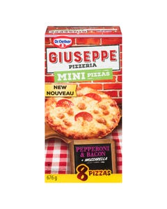 Giuseppe Mini Pizzas Pepperoni & Bacon 8ct 676g